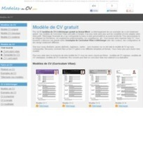 Modèle de CV et exemples de curriculum vitae à télécharger - Web Rank Info | CV et entretiens | Scoop.it