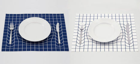 Optical Illusion Placemats Provide Subliminal Portion Control | The brain and illusions | Scoop.it