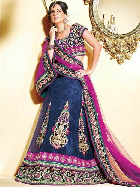 Lehenga Saree Brida | Latest Anarkali Salwar Kameez Online | Scoop.it