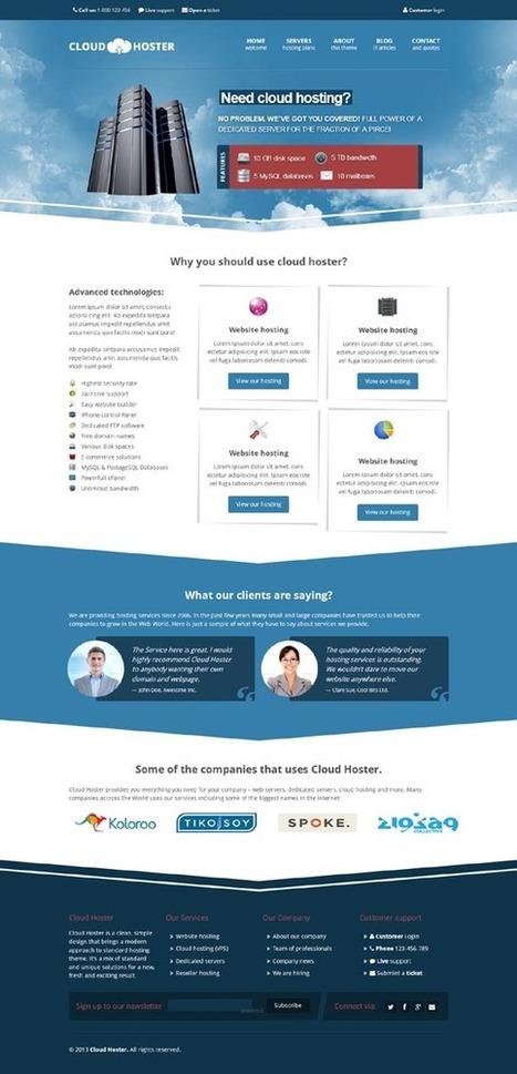 Cloud Hoster, WordPress Responsive Modern Hosting Theme | WP Download | Website Hosting | Scoop.it
