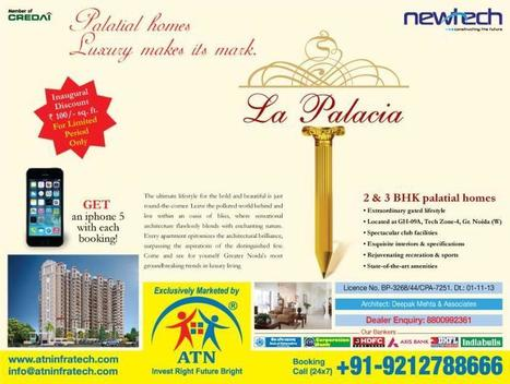 Book Palatial houses at Newtech La Palacia Noida Extension with ATN Infratech | Residential Projects in Noida | Scoop.it