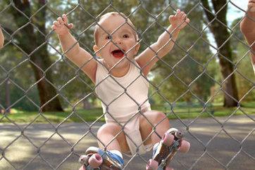 Evian takes roller-babies to Facebook | coursework | Scoop.it