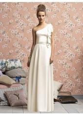 Sheath Column One Shoulder Floor Length Ivory Bridesmaid Dress Bbllpr2511 for $342 | 2014 landybridal wedding party dresses | Scoop.it