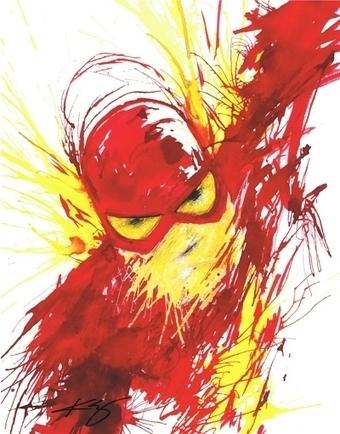 Flash, in Jason WGavin's Artist: Kevin Eslinger Comic Art Gallery Room - 1195411 | Savvy Comics | Scoop.it