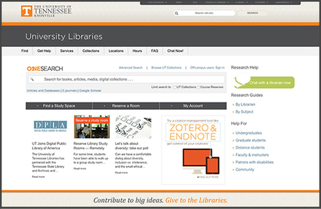 Test-drive the Libraries' New Homepage - News and Events - Libraries: The University of Tennessee, Knoxville | Tennessee Libraries | Scoop.it