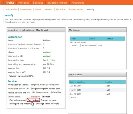 Translation Tribulations: Using resources from memoQ cloud backups on the desktop (by Kevin Lossner) | CAT Tools | Scoop.it