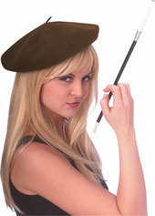 Adult Brown Beret - Costume Hats | Product We Love | Scoop.it