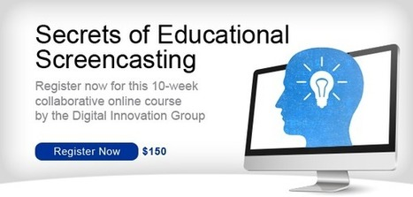 Screencasting course for educators! | The Screening Room | Multimedia Learning | Scoop.it