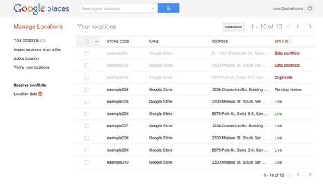 Google Adresses : De nouveaux outils pour la gestion groupée des pages - #Arobasenet | Social Media in organizations | Scoop.it