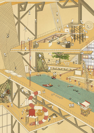Conceptual RISK Theme Park features floods, fires and hazards | The Architecture of the City | Scoop.it