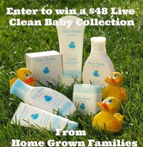 #AD: Live Clean Baby * Natural Baby Bath Products Review and Giveaway - Home Grown Families | Organic Baby Products | Scoop.it
