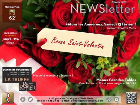 Millesimes 62, Quinzaine de la Truffe et Saint-valentin ! | RESTOPARTNER : des restaurants  de qualités à Paris - France | Scoop.it
