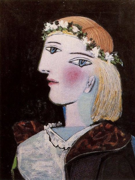 Portrait of Marie-Thérese Walter with a Garland, 1937 Pablo Picasso   Favorite Paintings digital   Scoop.it