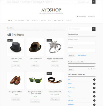 20 Free Ecommerce WordPress Themes - splash magazine | Template & Webdesign | Scoop.it
