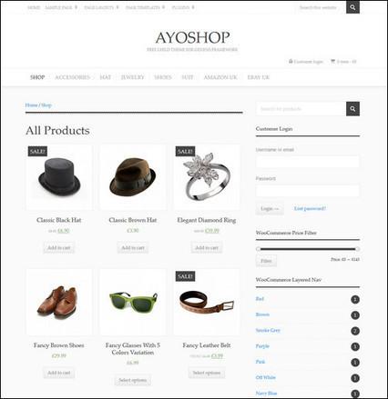 20 Free Ecommerce WordPress Themes - splash magazine | Template & Webdesign | Scoop.it