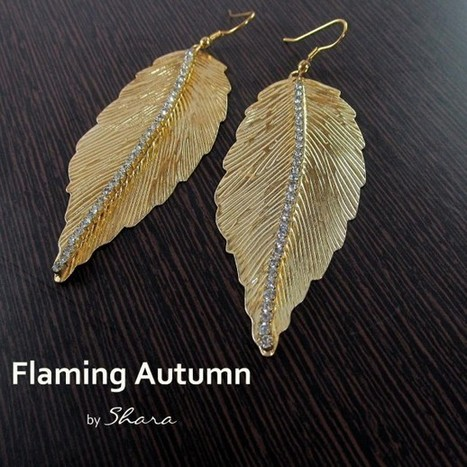 Flaming Autumn Earrings - Craftsia - Indian Handmade Products & Gifts | Indian Handmade Jewelry | Scoop.it