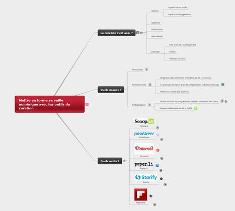 Mettre en forme sa veille numérique avec les outils de curation - Mind Map | Time to Learn | Scoop.it