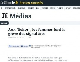 Sexisme aux Echos | sexisme | Scoop.it