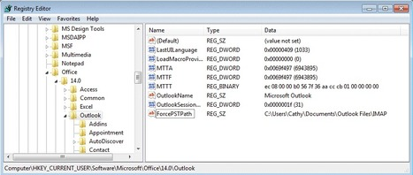 What is the registry key to prevent Outlook 2007 from creating PST files?   Microsoft Outlook Technical Support   Scoop.it