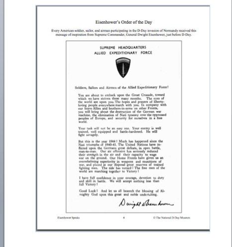 Primary Document #3 | General Dwight D Eisenhower | Scoop.it