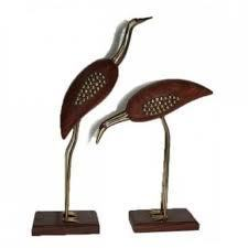 Crane Bird Set Of 2 Pcs | Brd1 | Centenarian Art Crafts Buy Online Free Shipping Cod Onlineshoppee Buy Online Wooden Products | Onlineshoppee | Scoop.it