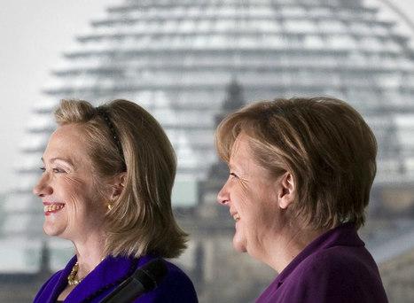 Machtige vrouwen: Hillary legt het (nog) af tegen Angela - HP/De Tijd | education lamb | Scoop.it