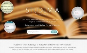 #studemia #startup #elearning tool Rethinking project and academic management #edtech20 #pln | startup in Semantic Web , Social Media , Web 2.0 , Elearning | Scoop.it