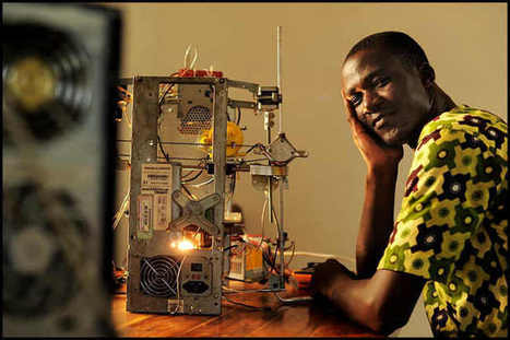 African man makes a 3D printer from e-waste. Good exemple of circular economy and 3D printing. | 3D Printing, Environment, Technologies and Innovations ! | Scoop.it