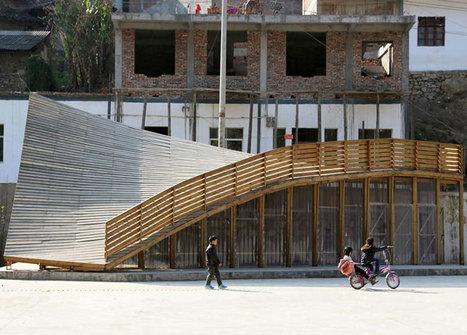 Des architectes ont bâti une bibliothèque-toboggan pour consoler les enfants d'une ville détruite par un séisme | Bibliothèques en évolution | Scoop.it