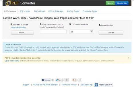 FreePDFConvert, utilidad web para convertir documentos a PDF o imagen│@softapps | Las TIC en el aula de ELE | Scoop.it
