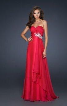 Rouge robe de soiree longue plissee en cristal LF17622 :   fashionrobe   Scoop.it