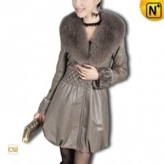 Women Sheepskin Leather Coat CW610021 - cwmalls.com | Fur Trimmed Coats | Scoop.it