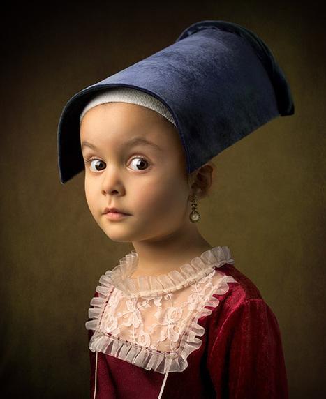 Il photographie sa fillette à la manière d'une peinture de Vermeer | Actualités Photographie | Scoop.it