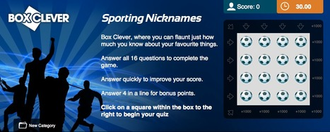 Sporting Nicknames Quiz | Box Clever | QuizFortune | Quiz Related Biz - Social Quizzing and Gaming | Scoop.it