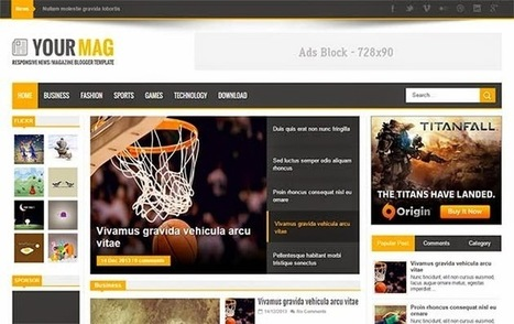 YourMag Responsive Blogger Template | Blogger Templates | Scoop.it