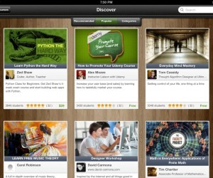 Udemy releases an iPad app, taking its 5000-course online learning platform ... - The Next Web (blog) | Wiki_Universe | Scoop.it