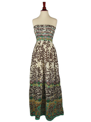 Product of the Day | Strapless Flowered Maxi Dress, Teddy, Upper West Side | Spotlight | New York Boutiques | Scoop.it