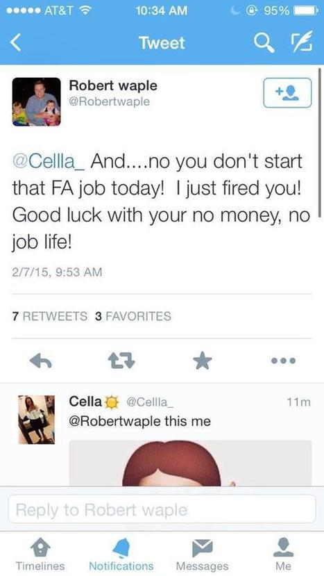 Young woman fired over Twitter before starting job | The Job Hunter & Human Resource | Scoop.it