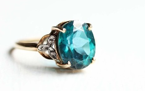 Vintage Turquoise Calcedony Ring | Vintage-Antique Rings of the World | Scoop.it