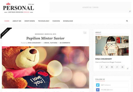 Personal - Clean & Responsive Blogger Template - My Blogging Lab   Blogger themes   Scoop.it