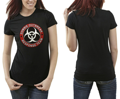 Women Tshirt Zombie Outbreak Response Team Black T-Shirt S-2XL   Customizable Clothing and Accessories   Scoop.it