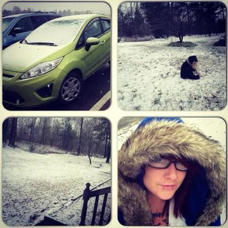 Jan17: #Photo Some pictures of snow in Alabama Thursday #snow #alabama #me #fordfiesta | Might be News? | Scoop.it