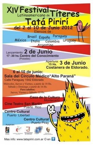 XIV Festival Latinoamericano de Títeres TatáPirirí (El Dorado - Misiones) | Bibliotecas Escolares Argentinas | Scoop.it