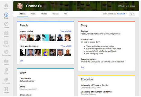Google+ updates profile pages with larger photos, \'card\' layout and Local review tab | enterprise google+ | Scoop.it