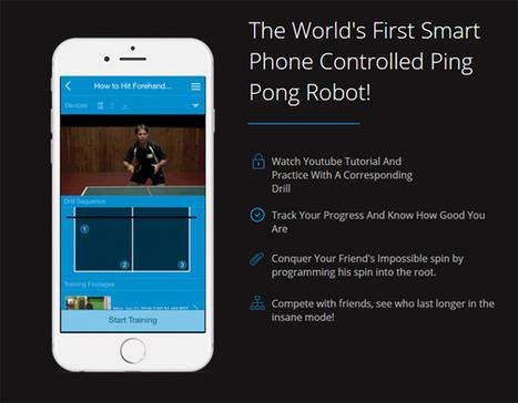 Un entraineur robotisé programmable pour les amateurs de ping-pong | ping pong 44 | Scoop.it