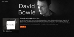 Listen to David Bowie's First Album in 10 Years for Free Online (Legally) | Rewers 2.0 | Scoop.it