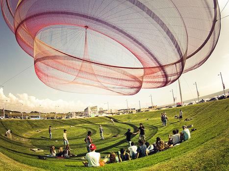 Giant Suspended Net Installations by Janet Echelman | ciberpocket | Scoop.it