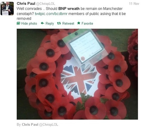Manchester Labour Cllr demands removal of BNP wreath | The Indigenous Uprising of the British Isles | Scoop.it