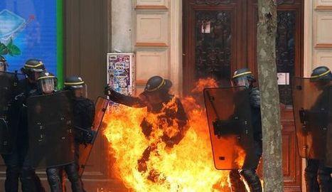 Loi Travail: au moins 15 personnes interpellées, un CRS brûlé à la jambe à Paris | PHMC Press | Scoop.it