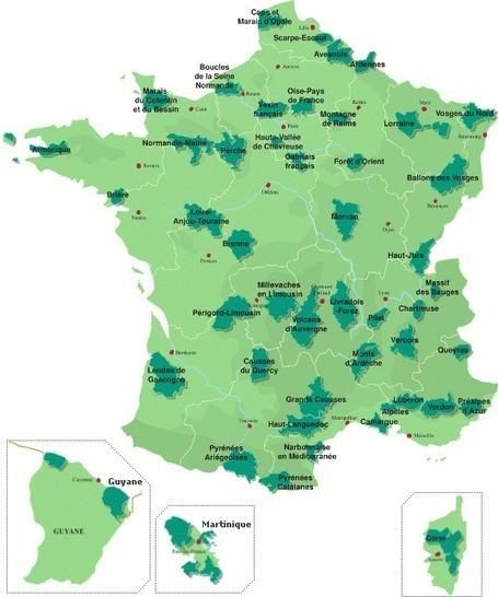 Carte des parcs naturels régionaux de France | Revue de Web par ClC | Scoop.it
